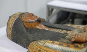 Two perfectly preserved Egyptian mummies from the Palace of Truth in Deir al-Medina are being restored and will be put on exhibit. Source: Ministry of Antiquities