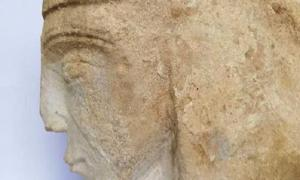 Stone carving believed to be of Queen Eleanor of Aquitaine. Source: Milton Keynes Council.