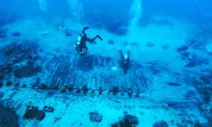 Marine research and excavation in the wreck area of the Mentor in 2011 and 2012.