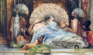 Sarah Bernhardt in Theodora (1902) by Georges Jules Victor Clairin (1843-1919)