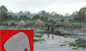 An artist's reconstruction of life at Star Carr, where recent excavations have uncovered evidence of a thriving Mesolithic settlement.