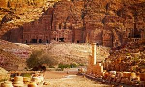 The magnificent ancient city of Petra, Jordan.