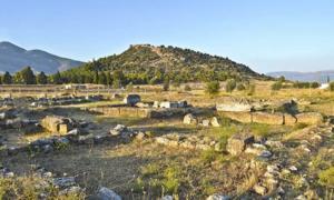 Landscape of the ancient city of Eretria, Euboea, Greece. Source: photo_stella / Adobe Stock