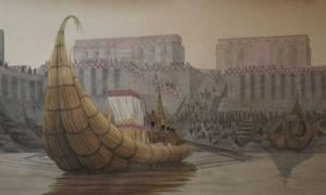 Re-creation of the port at Eridu.
