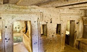 Underground Etruscan tomb at Cerverteri (representational image).