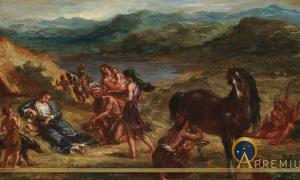 Ovid among the Scythians (1862 ) by Eugene Delacroix) (Public Domain)