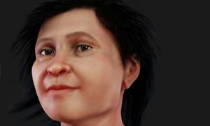 Reconstructed face of Eva of Naharon, who would have lived about 13,600 years ago.