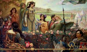 Lancelot and Guinevere by Herbert James Draper (c.1890) (Public Domain)