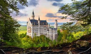 The famous German Neuschwanstein Castle looks straight out of a fairytale
