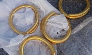 The four gold rings recovered from County Donegal, Ireland.