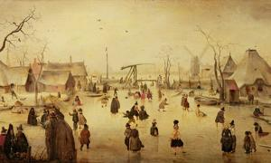 Hendrick Avercamp's 'Ice Scene' (c. 1610).