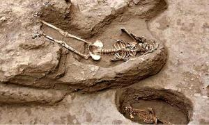 One of the sacrifice victims discovered at a temple in the Pucalá district of Peru.