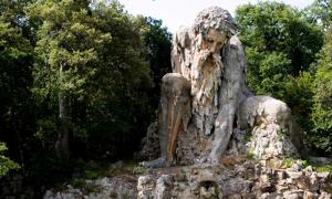 The Apennine Colossus by Giambologna.