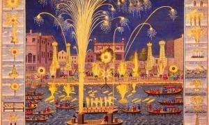 Fireworks on the River Thames