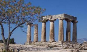 Temple of Apollo at Corinth.