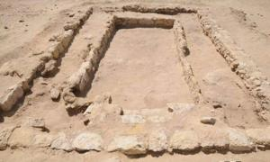 Photo released by the Egyptian Ministry of Antiquities shows an ancient gymnasium dating back about 2,300