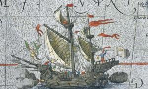 Illustration of the Flor de la Mar