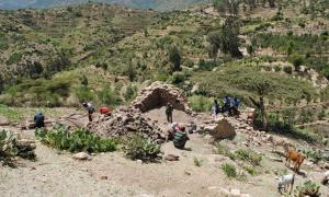 The excavation at the mosque in Harlaa, Eastern Ethiopia.