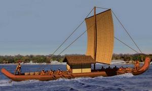 A Chontal Maya sea craft.