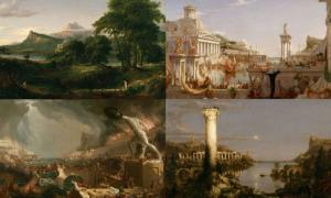Four paintings from 'The Course of Empire'
