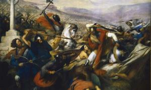 Victory over the Muslims at the Battle of Tours marked the furthest Muslim advance and enabled Frankish domination of Europe for the next century. Source: Bender235 / Public Domain.