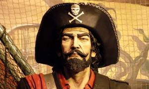 A typical depiction of a pirate