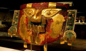 Funerary mask, Sican culture, Metropolitan Museum of Art, NYC, USA