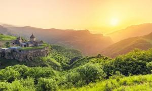 The Tatev Monastery in Armenia is home to the mysterious Gavazan Column, a medieval seismograph created to warn the monks of an approaching earthquake. Source: Goinyk / Adobe Stock