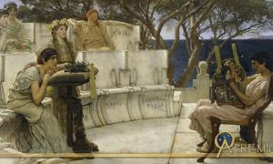 Sappho and Alcaeus by Lawrence Alma-Tadema (1881)