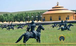 The former temporary palace of Genghis Khan in Fengning County, Hebei, China.