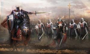 Depiction of the German Knights Templar.    Source: vukkostic / Adobe stock