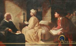 The Imprisonment of Beatrice Cenci by Achille Leonardi ( b: 1800 d. 1870) (Public Domain)