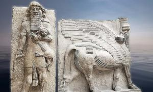 Work using the Statue of Gilgamesh and Lamassu.    Source: CC BY 4.0