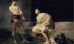 Gladiators after the fight, José Moreno Carbonero (1882)