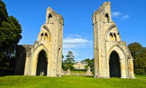 Glastonbury Abbey.