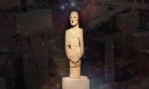 Statue from Gobeklitepe at Urfa Museum, Orion Nebula and Gobekli Tepe