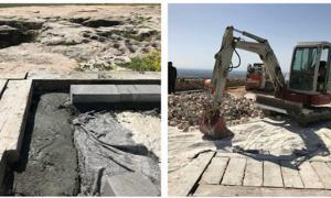 Construction work being undertaken at Gobekli Tepe.