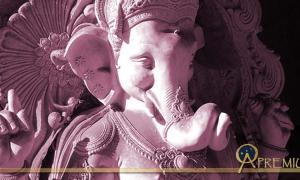 Elephant-headed goddess Vinayaki is often mistaken for a female Ganesha. Statue of Ganesha
