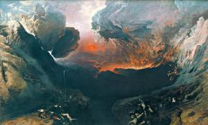 The Great Day of God's wrath (1853), oil on canvas by John Martin, Tate Gallery in London.