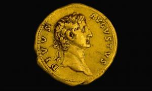The extremely rare gold coin.