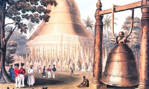 Artwork showing the Dhammazedi Bell.