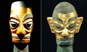 Golden Masks from Sanxingdui