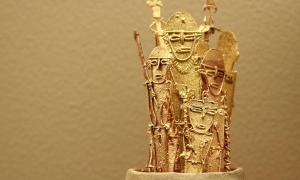 Golden vitives figures (known as tunjos), Muisca-Chibcha culture — pre-columbian culture in the territory of modern Colombia