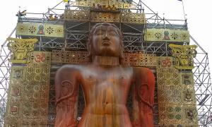Mahamastakabhishek of Gomateshwara statue.