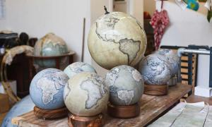 Can you Believe these Gorgeous Globes are Painstakingly Hand-made and Illustrated?