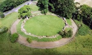 Drone snapshot of Grange Stone Circle.