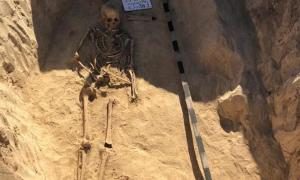 Grave of a female Scythian warrior found in Ukraine.