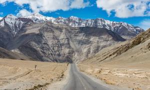 A gravity hill located near Leh in Ladakh, India.