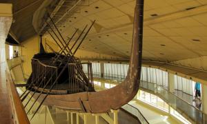 The magnificent Boat of Khufu, Solar Boat Museum, Giza