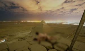 Andreas Hvid and friend allegedly climbed to the top of the Great Pyramid at Giza